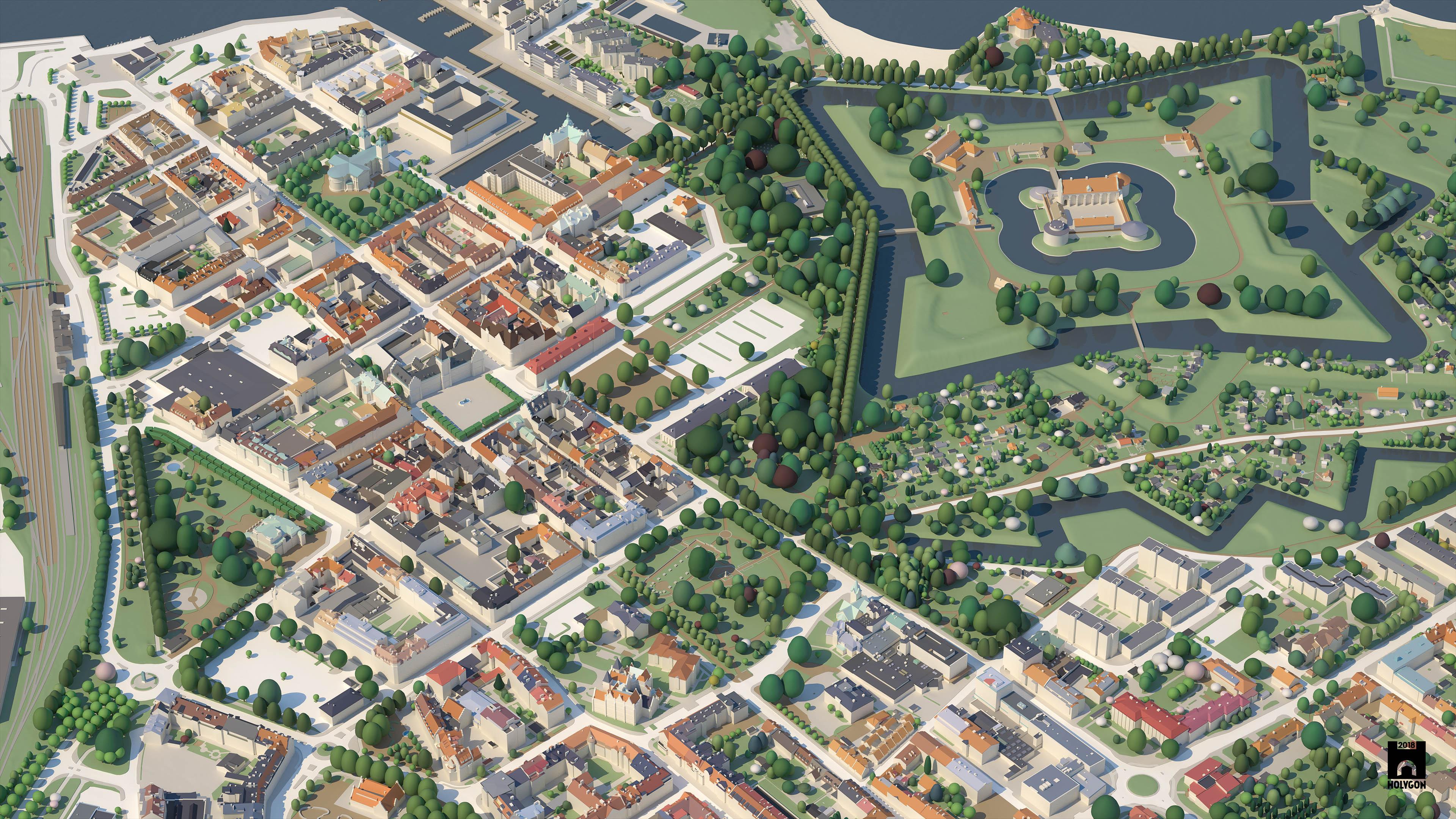 City model render